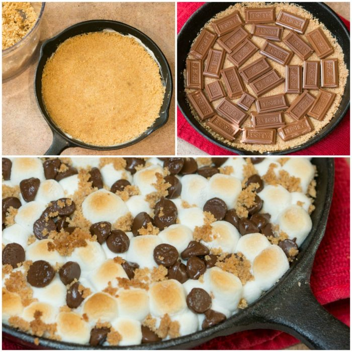 Our yummy S'mores Cookie Bar and Dip combines all your favorite flavors - graham cracker cookie crust, loads of chocolate, and a pile of marshmallows!