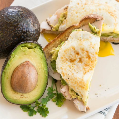 Avocado toast is the ultimate healthy breakfast recipe that's so incredibly easy. Layer turkey, a fried egg, and a big scoop of avocado! It is wholesome and delicious.