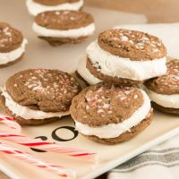 Layered Chocolate Peppermint Cookies