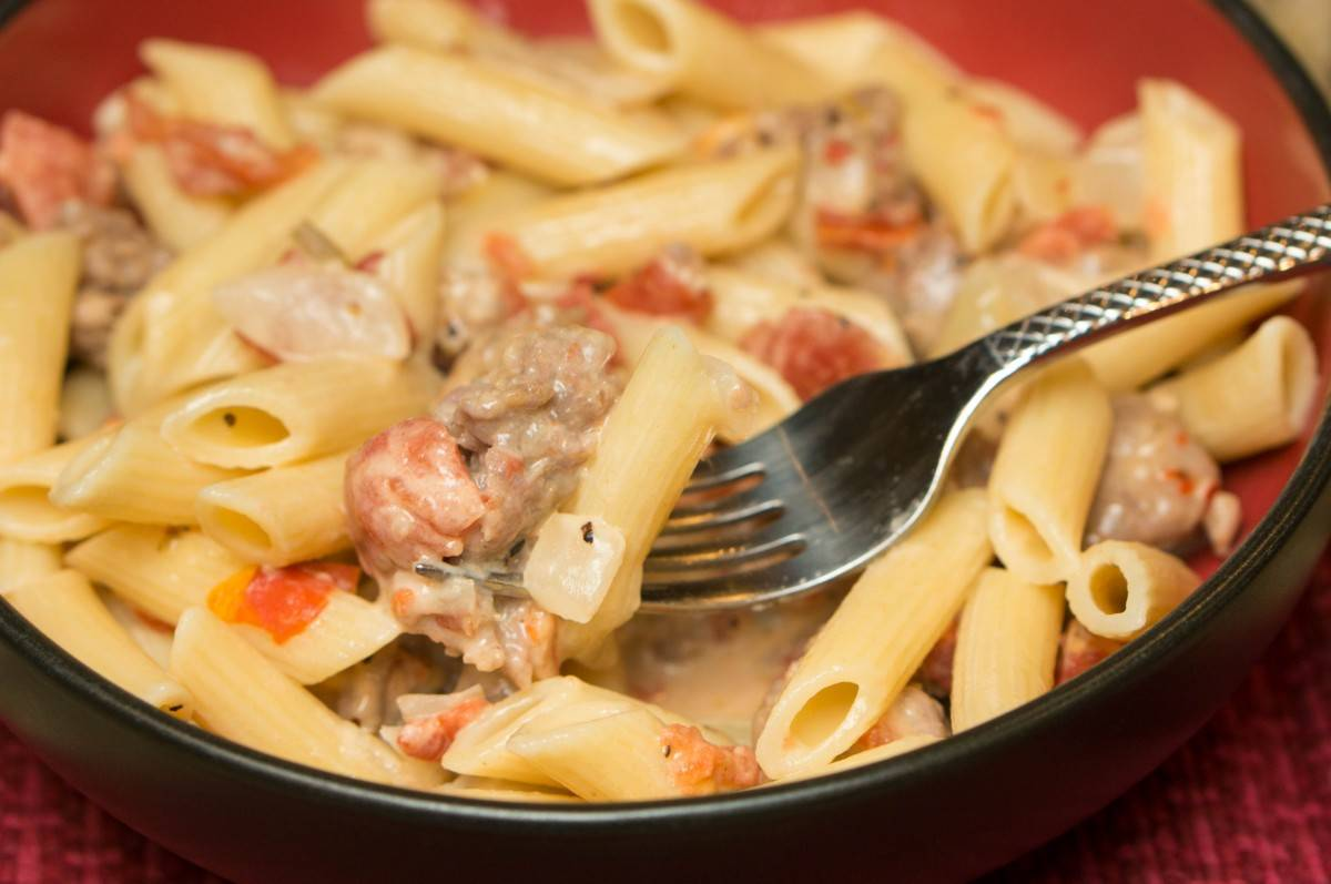 Spicy Italian Sausage Pasta Simple Sweet Recipes