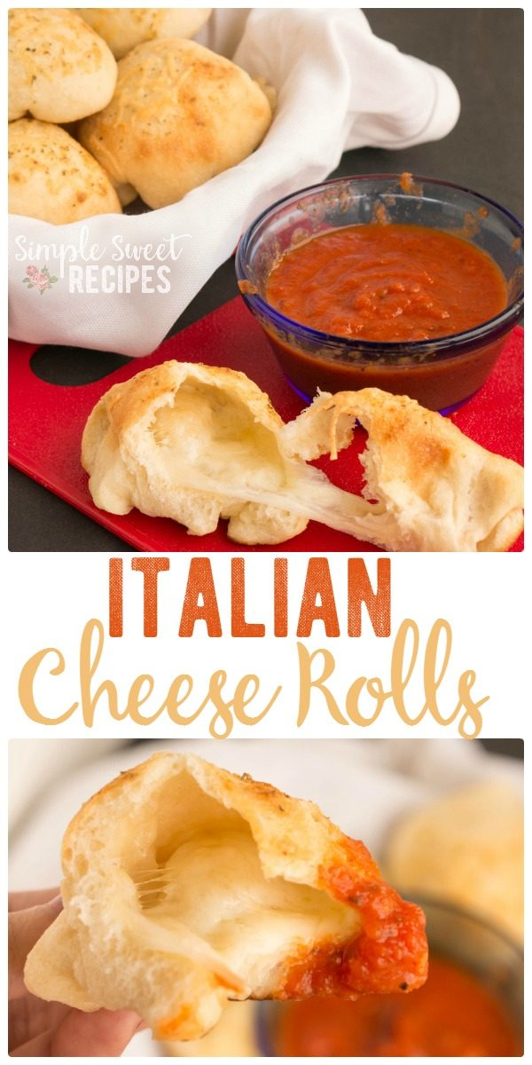 Your favorite garlic knots are all rolls up into these yummy Italian Garlic Cheese Rolls. So easy to make and delicious side to your pizza or pasta dinner.