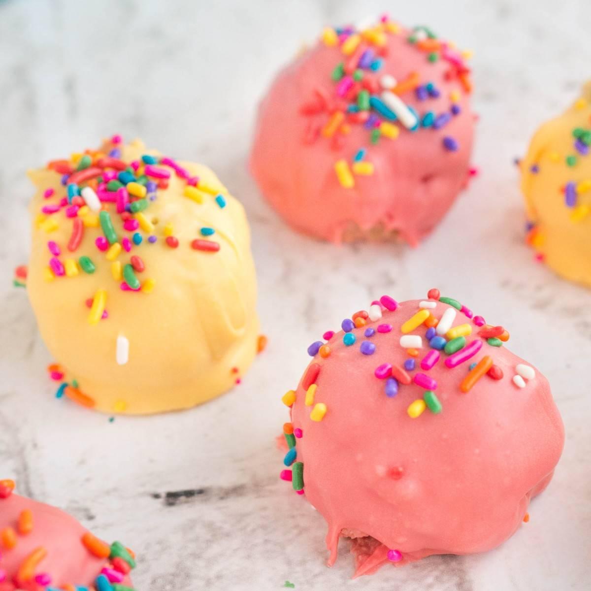 Sprinkles Birthday Cake Balls