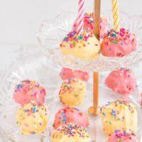Sprinkle Birthday Cake Balls