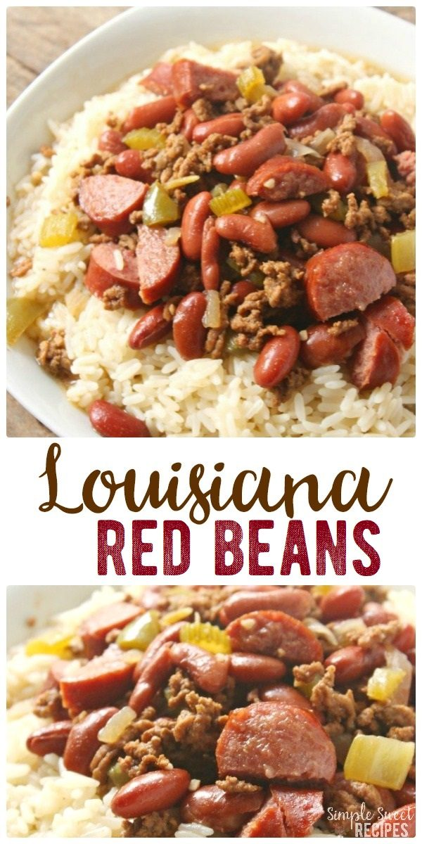 Easy dinner recipe, this Louisiana red beans and rice dish is hearty and filling with a flavorful and authentic cajun taste that just needs a few minutes prep, then let it stew!