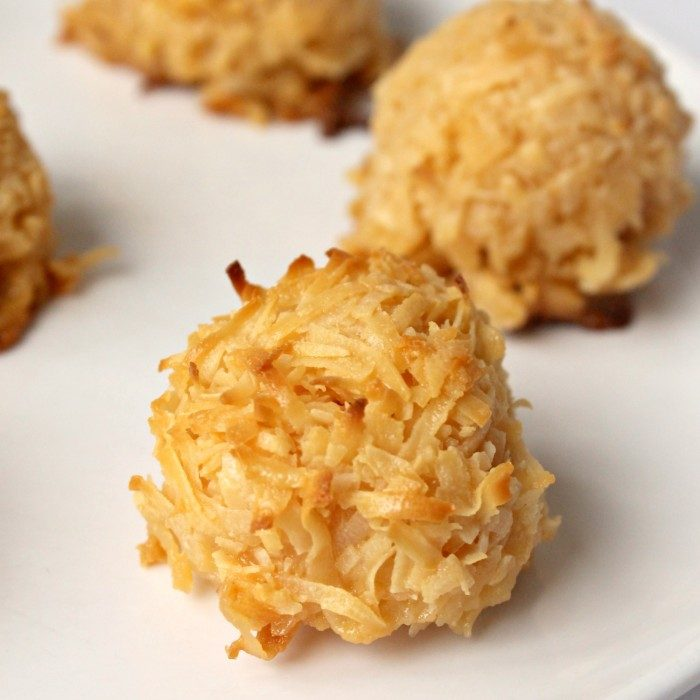 3-Ingredient Toasted Coconut Cookies