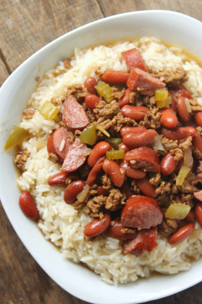 red beans and rice with ground beef