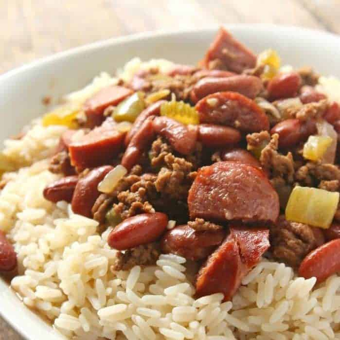 Red Beans And Rice With Ground Beef Simple Sweet Recipes