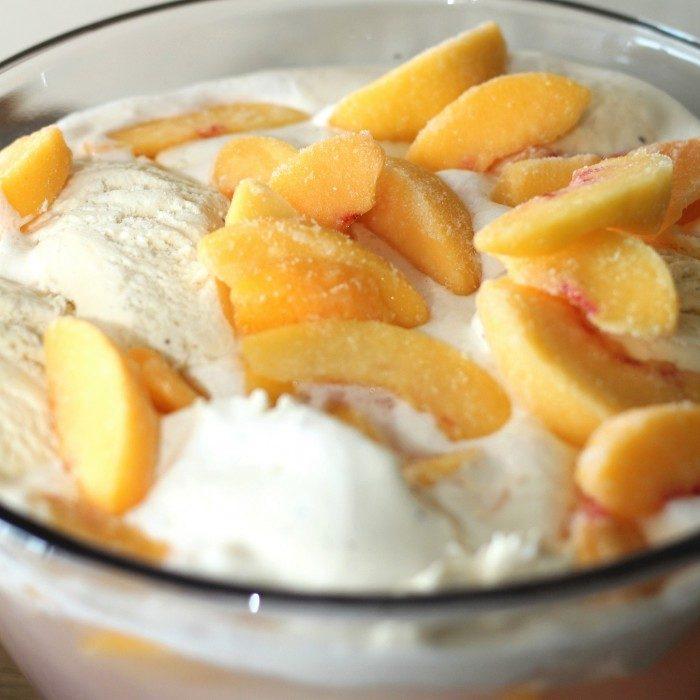 peaches ice cream punch
