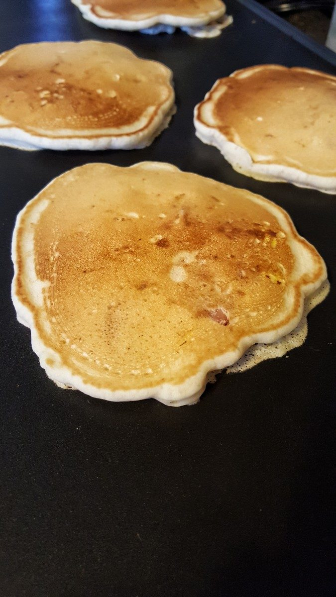 easy everything pancakes on griddle