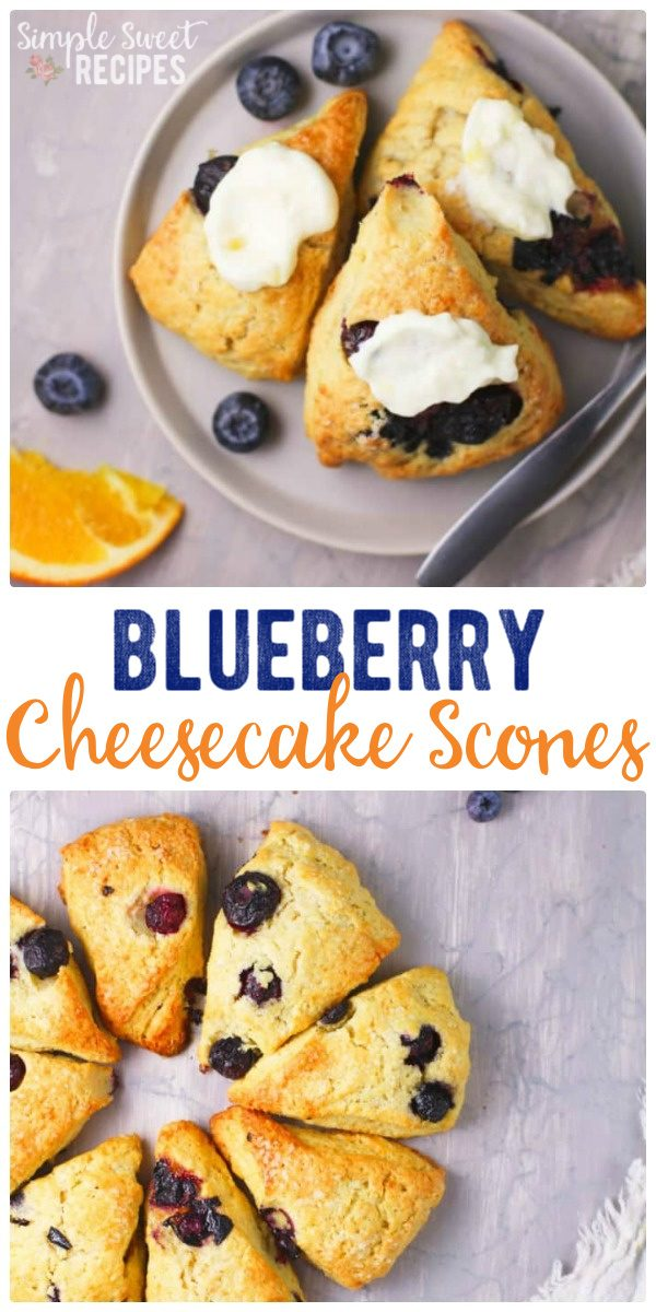 Blueberry Cheesecake Scones