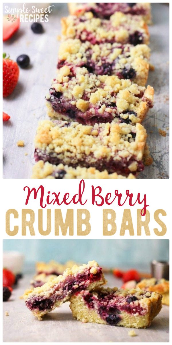 Mixed Berry Crumb Bars