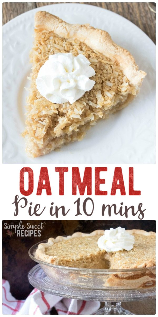 Easy oatmeal pie with just 10 mins prep
