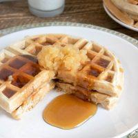 Homemade Applesauce Waffles