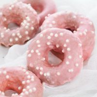 Strawberry Frosted Donuts