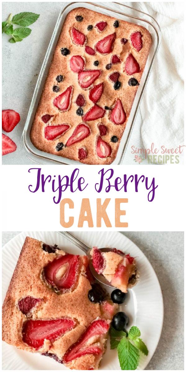 triple berry cake recipe